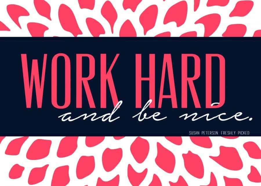 work hard pink