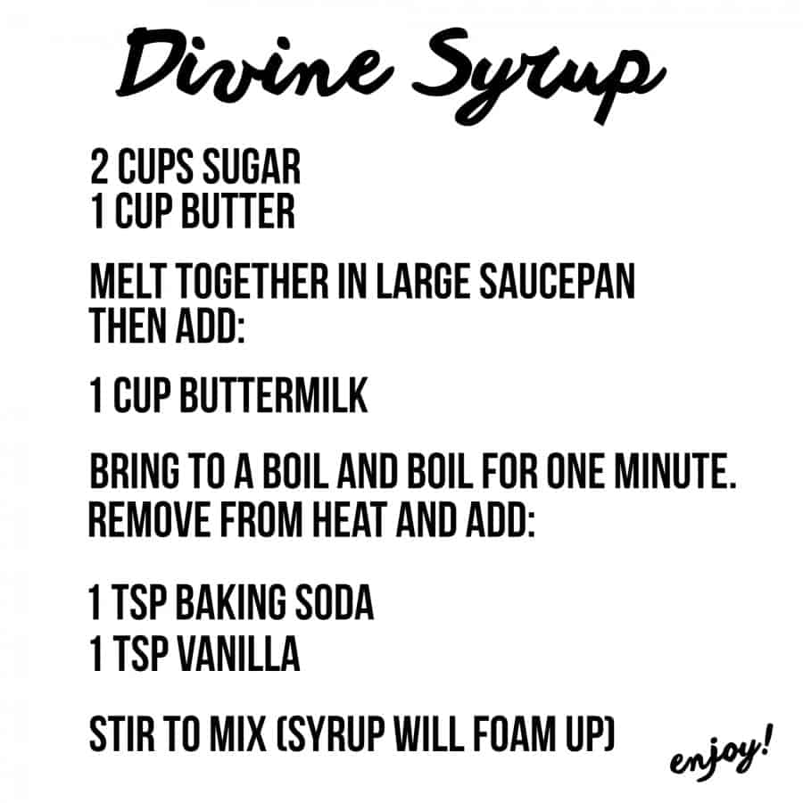 Divine syrup