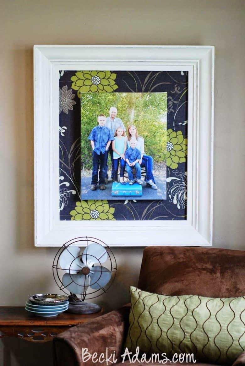 Framed Canvas Tutorial by Becki Adams