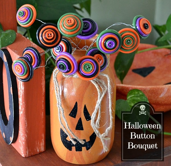 Halloween-Button-Bouquet-