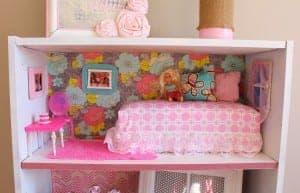 DIY Barbie House from a shelf