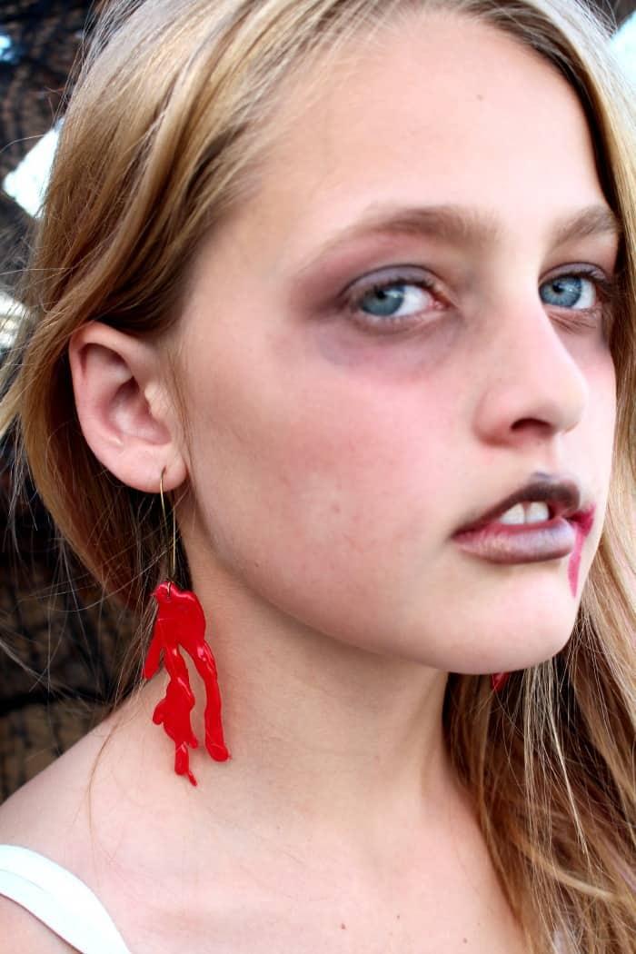 bloody earrings