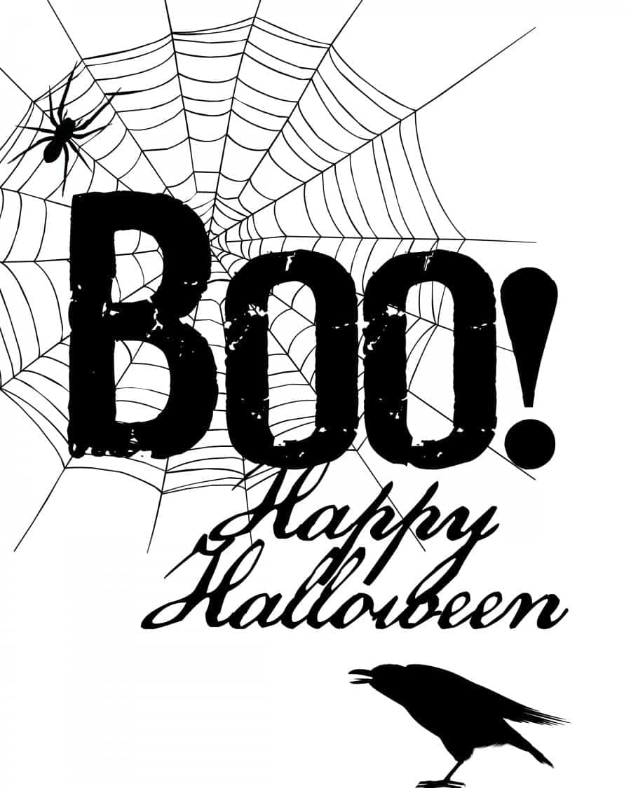 boo happy halloween free printable