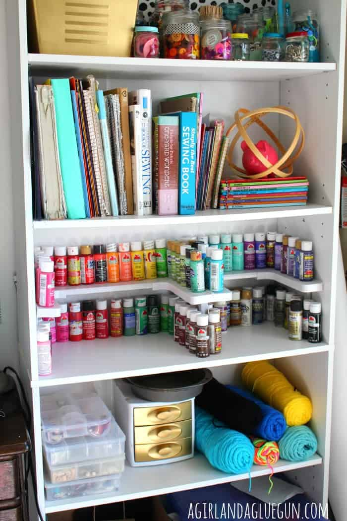 Craft Room Organizer Spicy Shelf A Girl And A Glue Gun