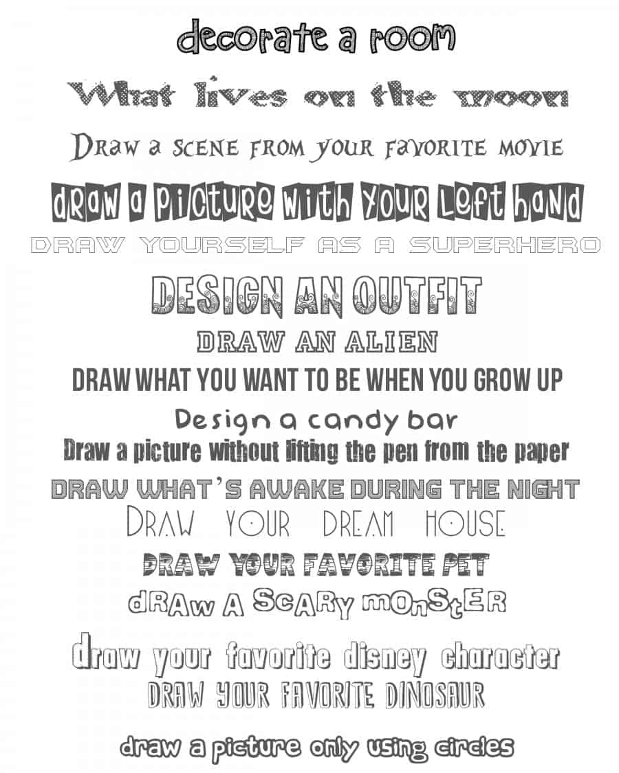 do you doodle printable