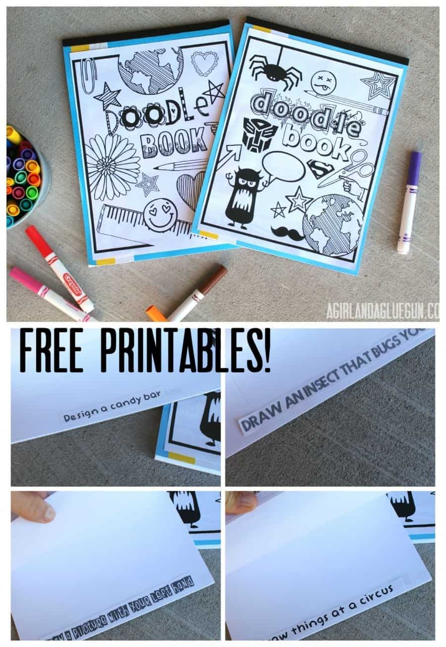 doodle book with free printables