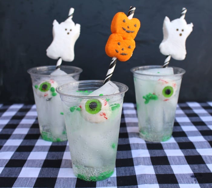 easy ghost and pumpkin drinks