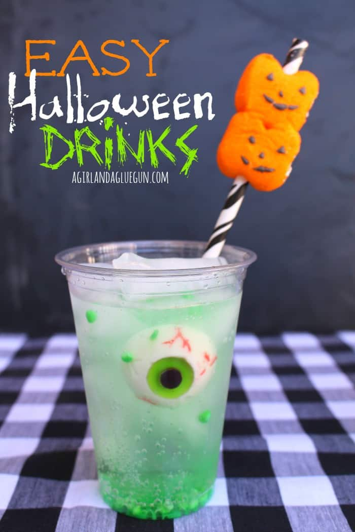 Easy Halloween Drink With Peep Straws A Girl And A Glue Gun