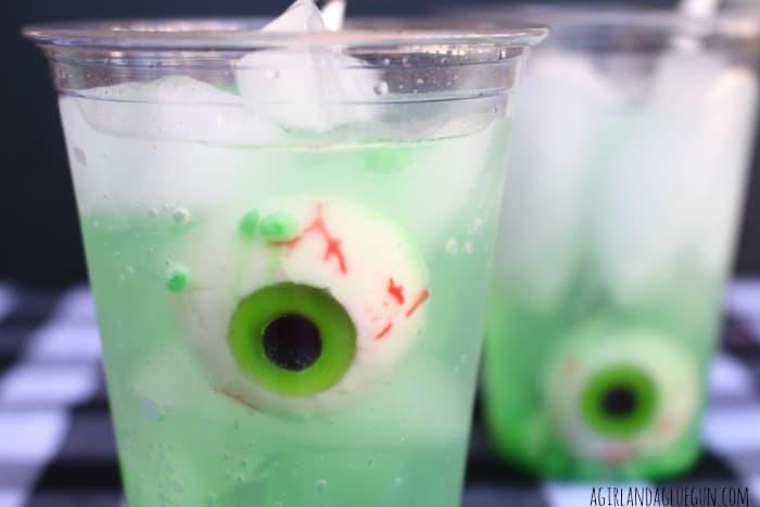 eyeball in punch for halloween