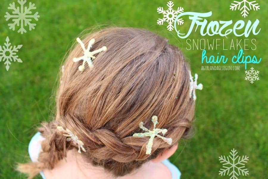 frozen snowflakes hair clips