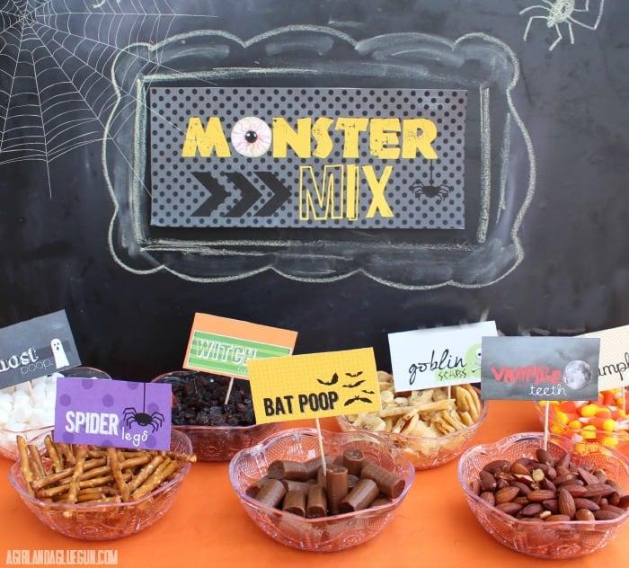 fun halloween treat table