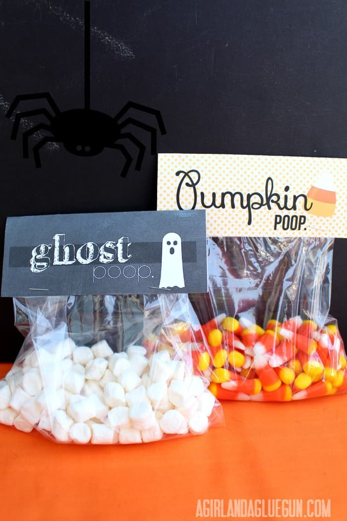 ghost and pumpkin poo printables