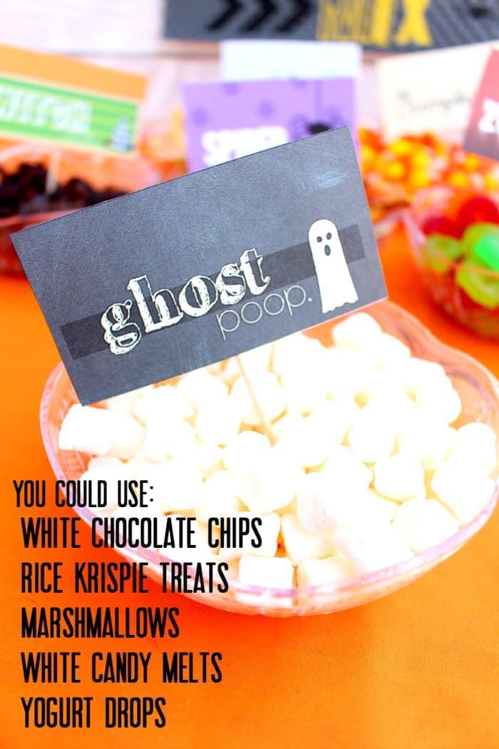 ghost poop ideas
