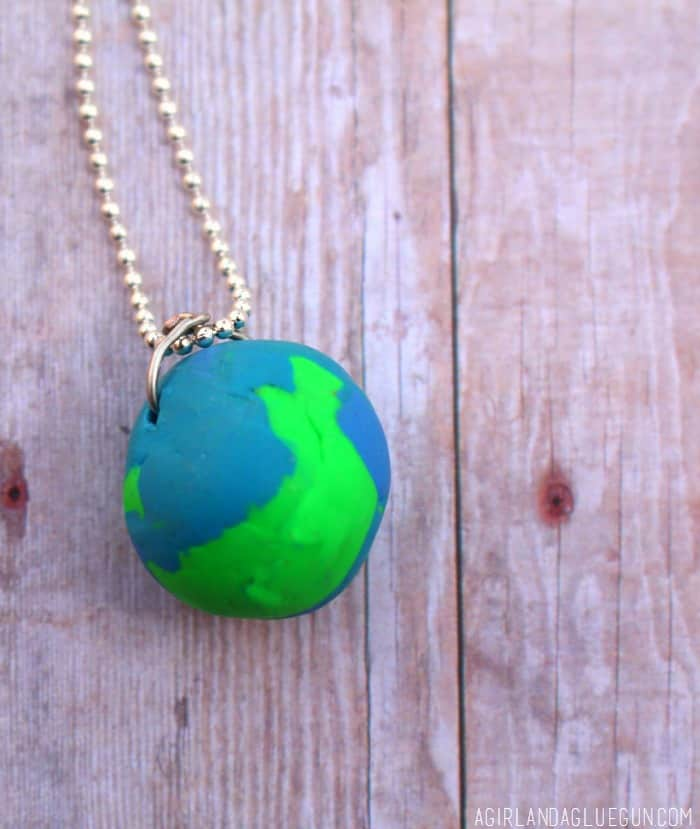globe necklace out of sculpey