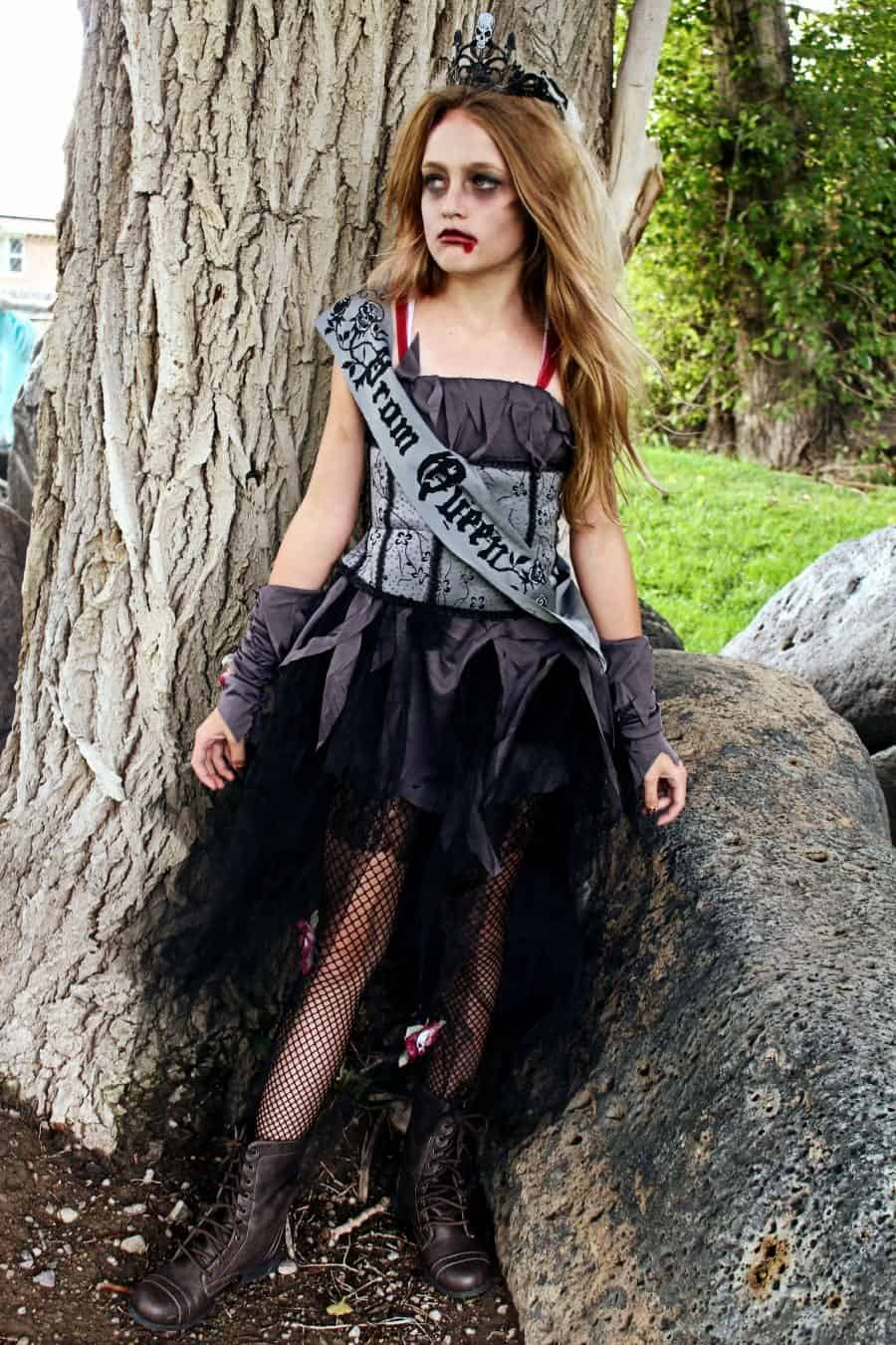 gothic prom queen tween costume