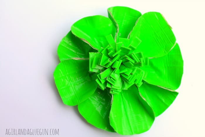 green duck tape flower how to
