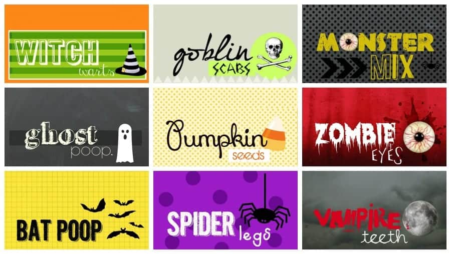 monster mix printables for halloween