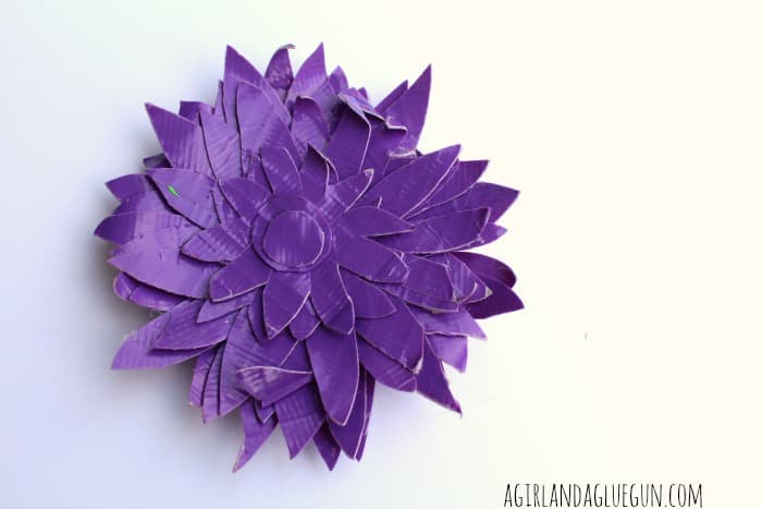 purple duck tape flower