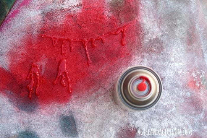 spray paint hot glue gun earring