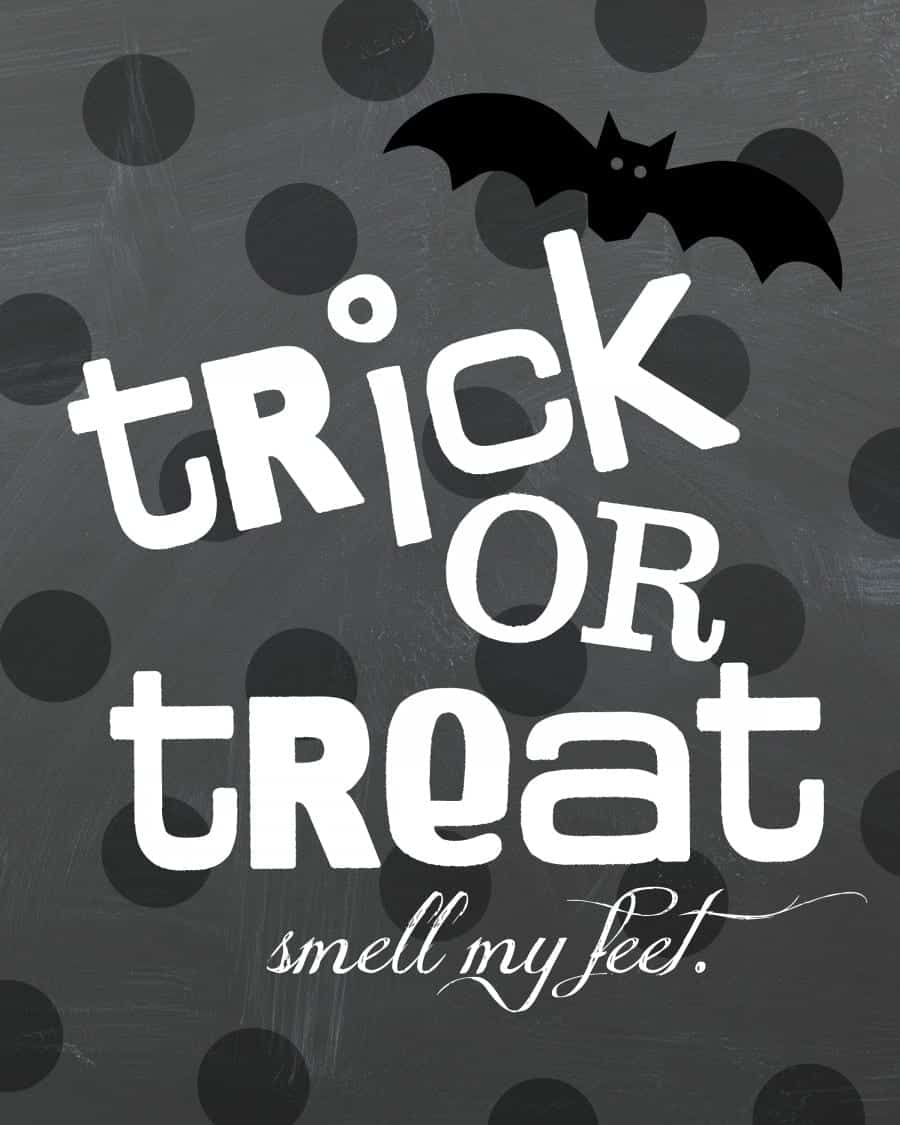 trick or treat printable smell my feet