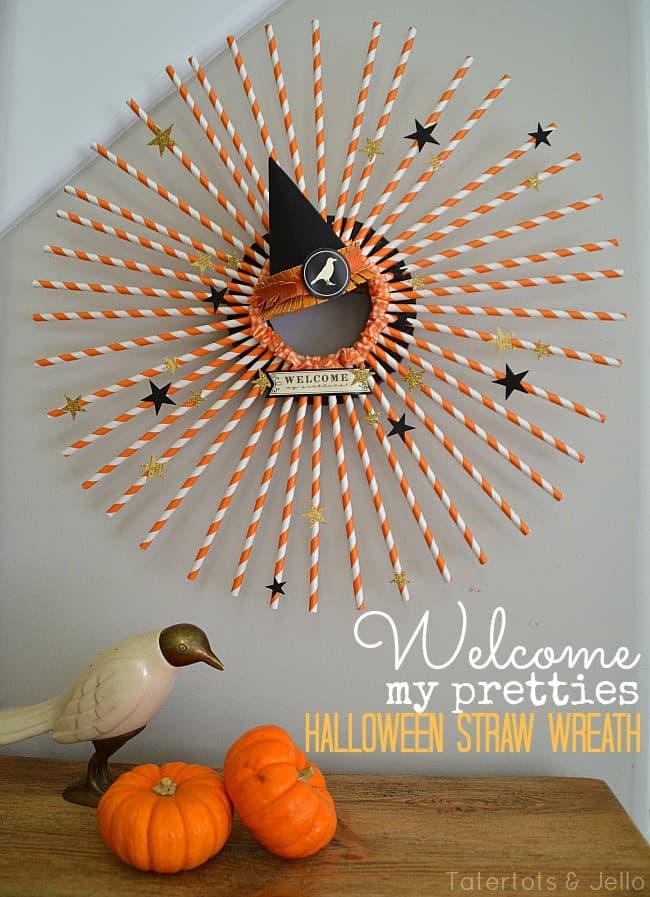 welcome-my-pretties-Halloween-Straw-Wreath