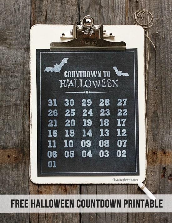 Countdown to Halloween Printable