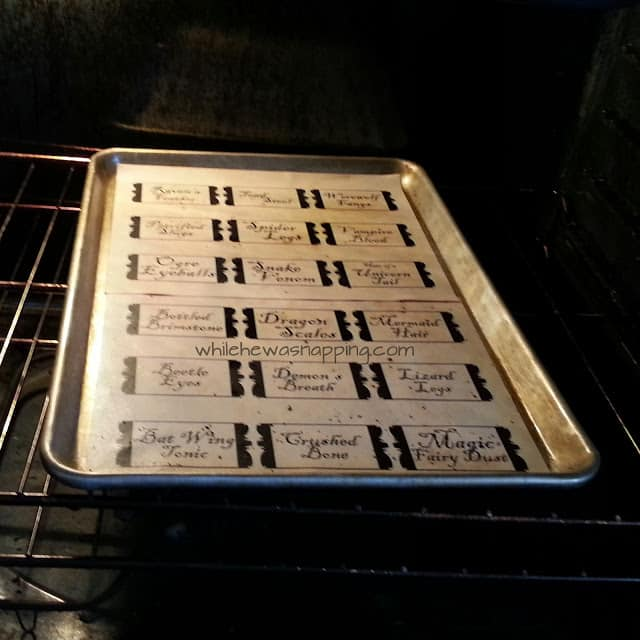 Paper in the oven