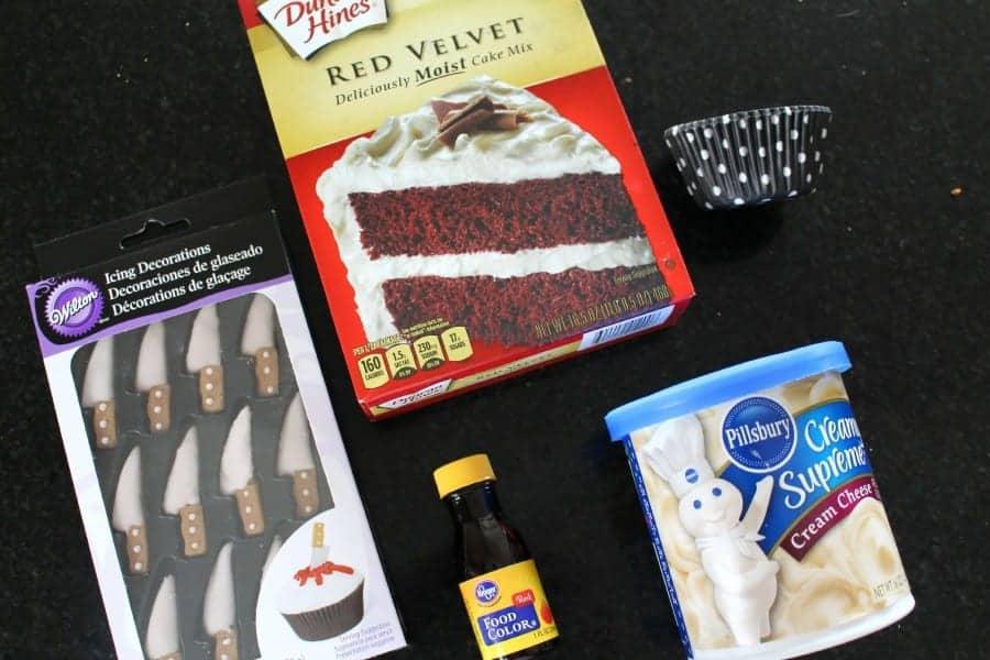 bloody cupcakes ingredients