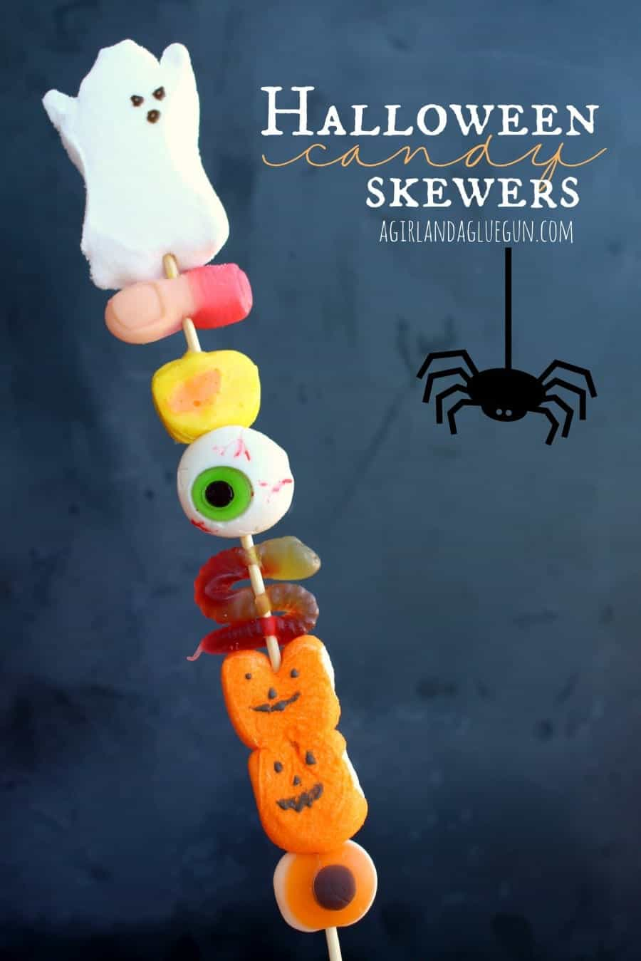 candy skewers for a great halloween party