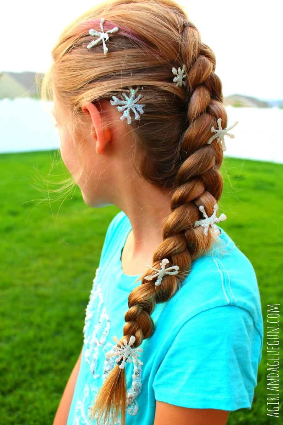 diy frozen hair clips for elsa