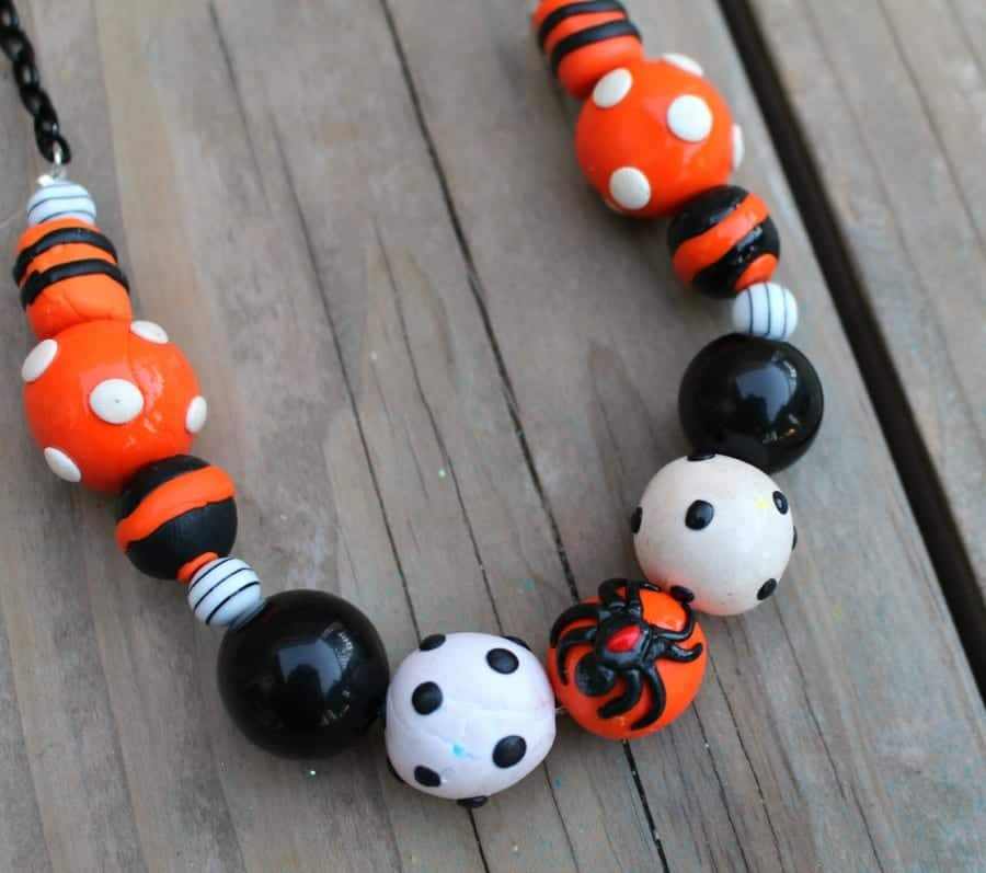 diy halloween sculpey necklace