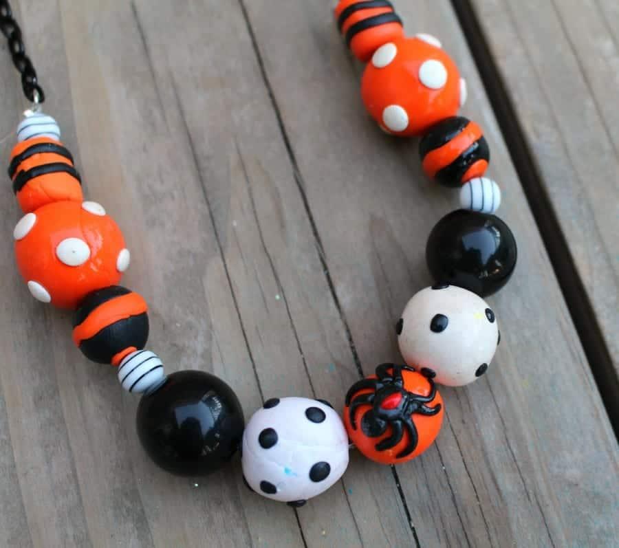 diy halloween sculpey necklace