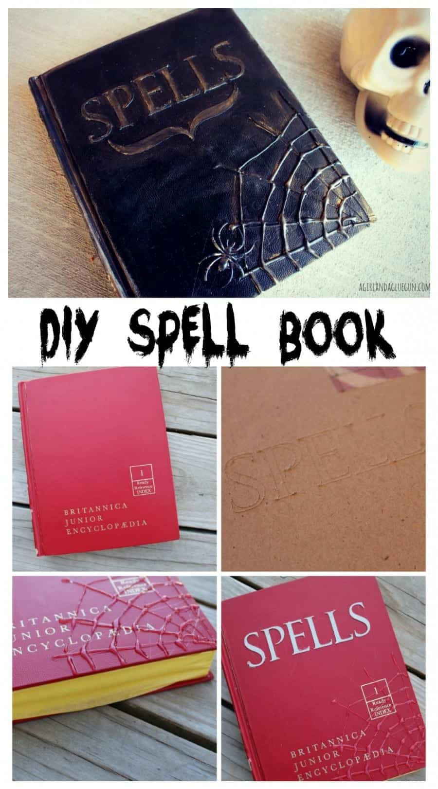 diy halloween spell book