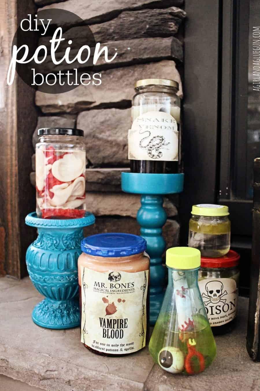 diy potion bottles with kids