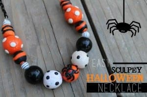 Halloween sculpey necklace