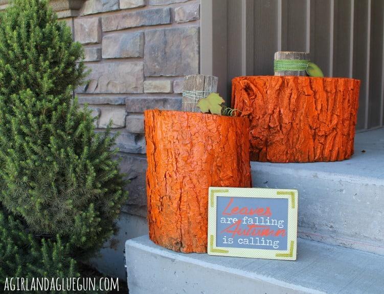 fall rustic pumpkins
