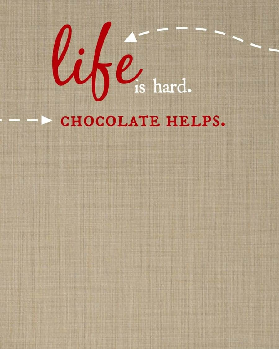 free printable for any occasion. just add chocolate