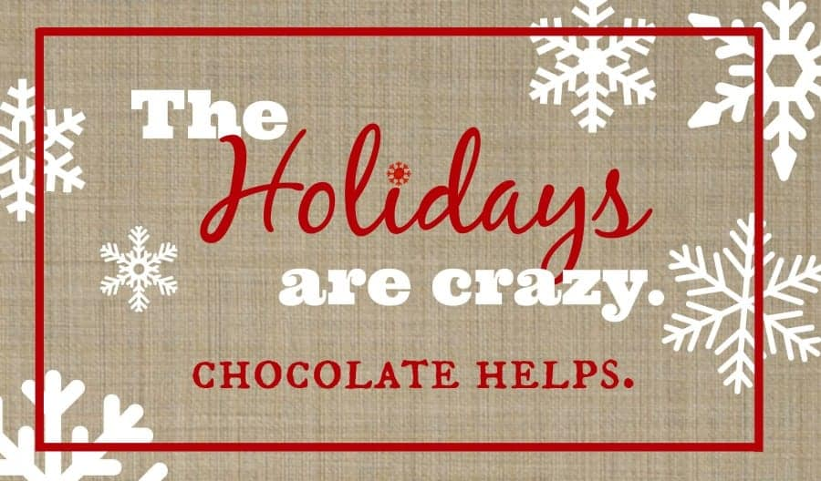 free printable for the holiday season--chocolate helps. a girl and a glue gun
