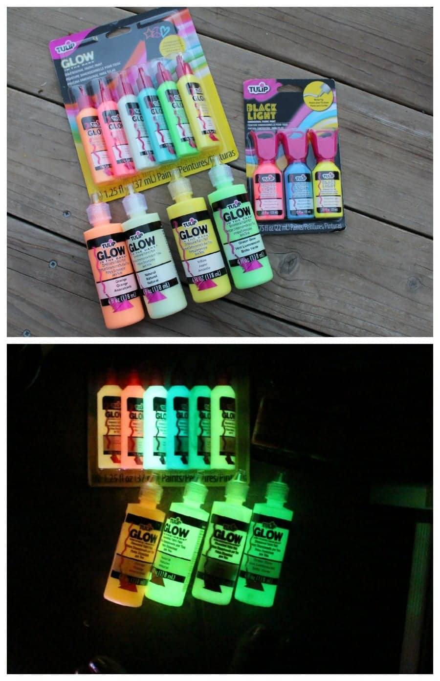 glow in the dark tulip paint