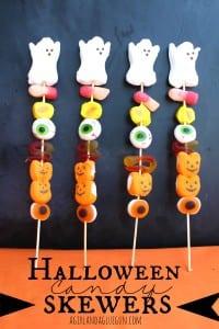 halloween candy skewers-fun treat! a girl and a glue gun