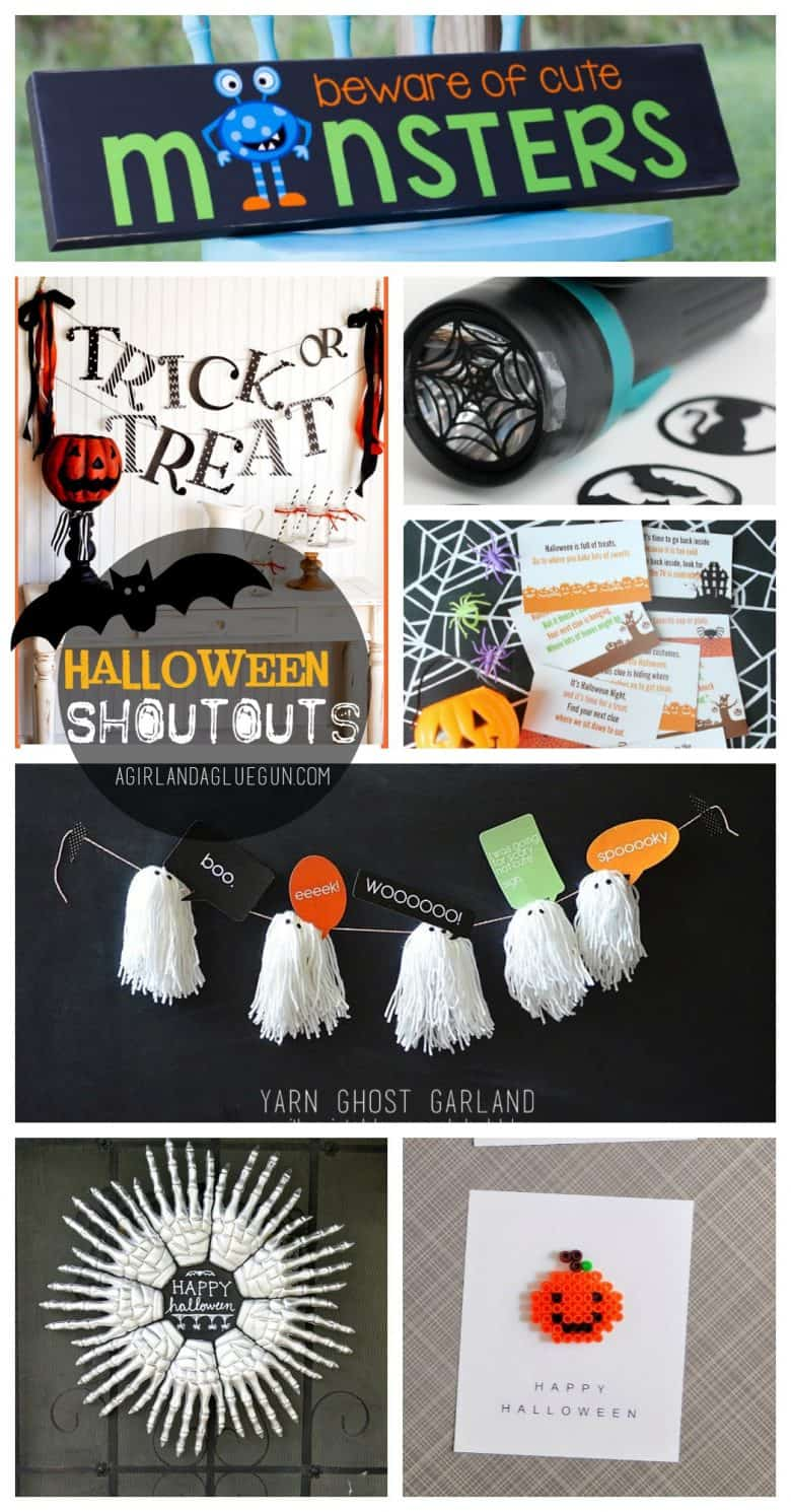 halloween shoutouts - A girl and a glue gun