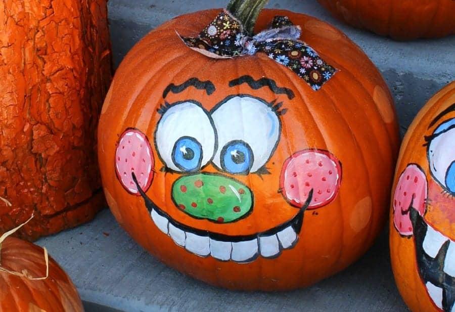 hand designed pumpkins