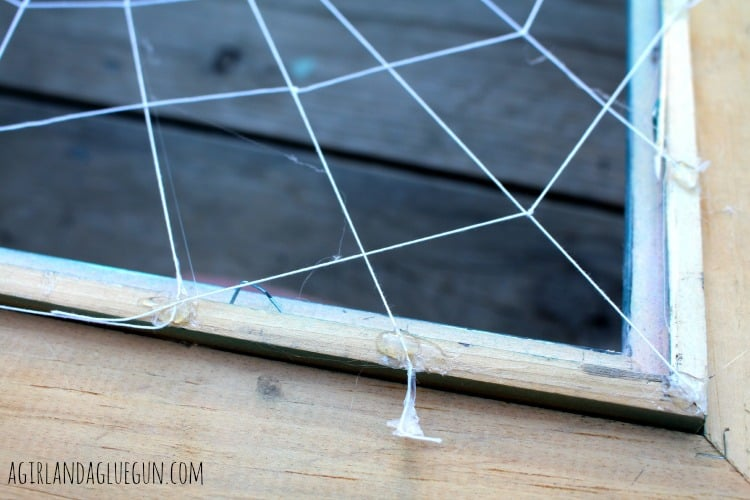 how to hot glue a web frame