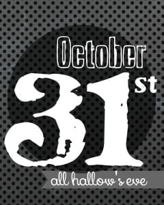 october 31st free printable