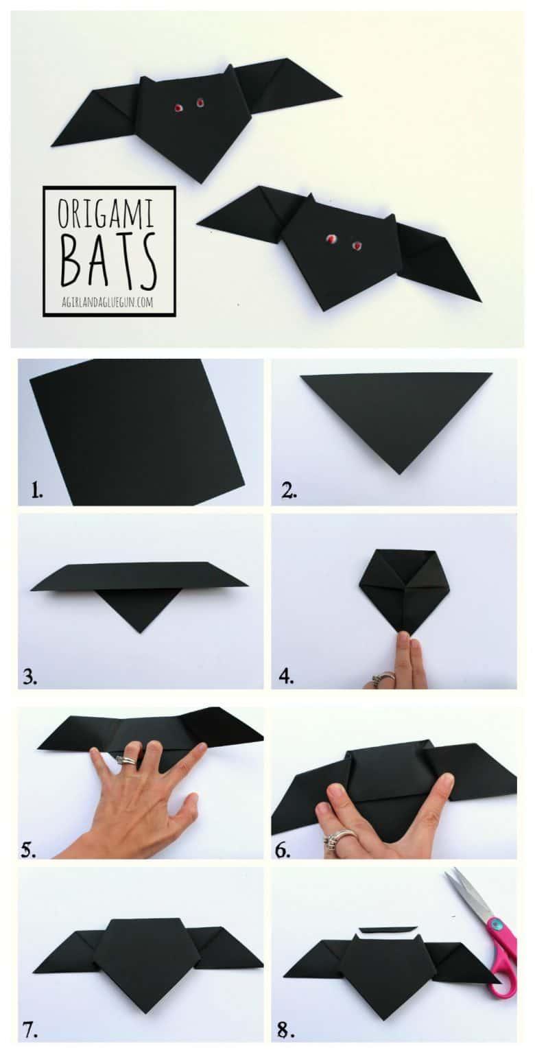 Origami Bats A Girl And A Glue Gun