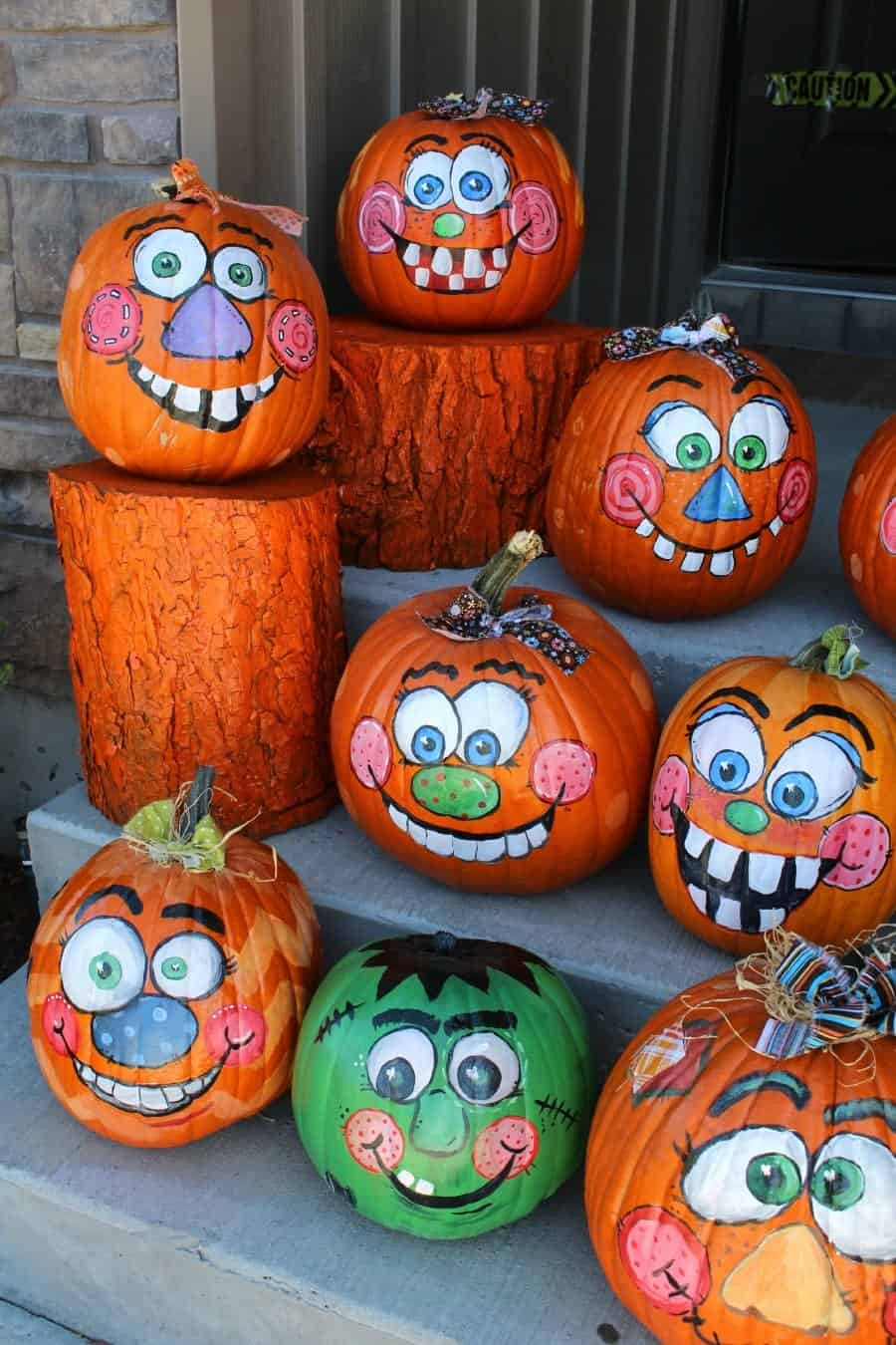 pumpkins with faces no carve!