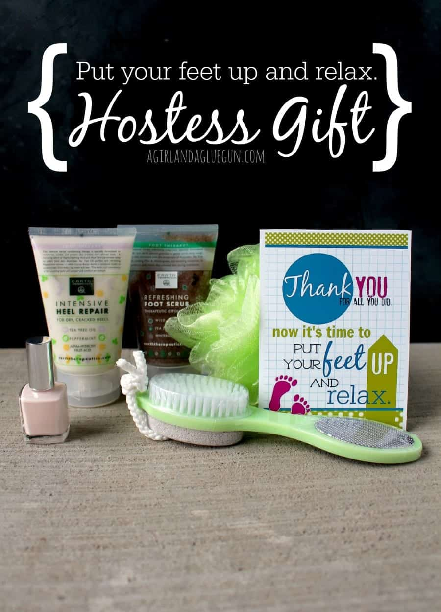 put your feet up and relax hostess gift
