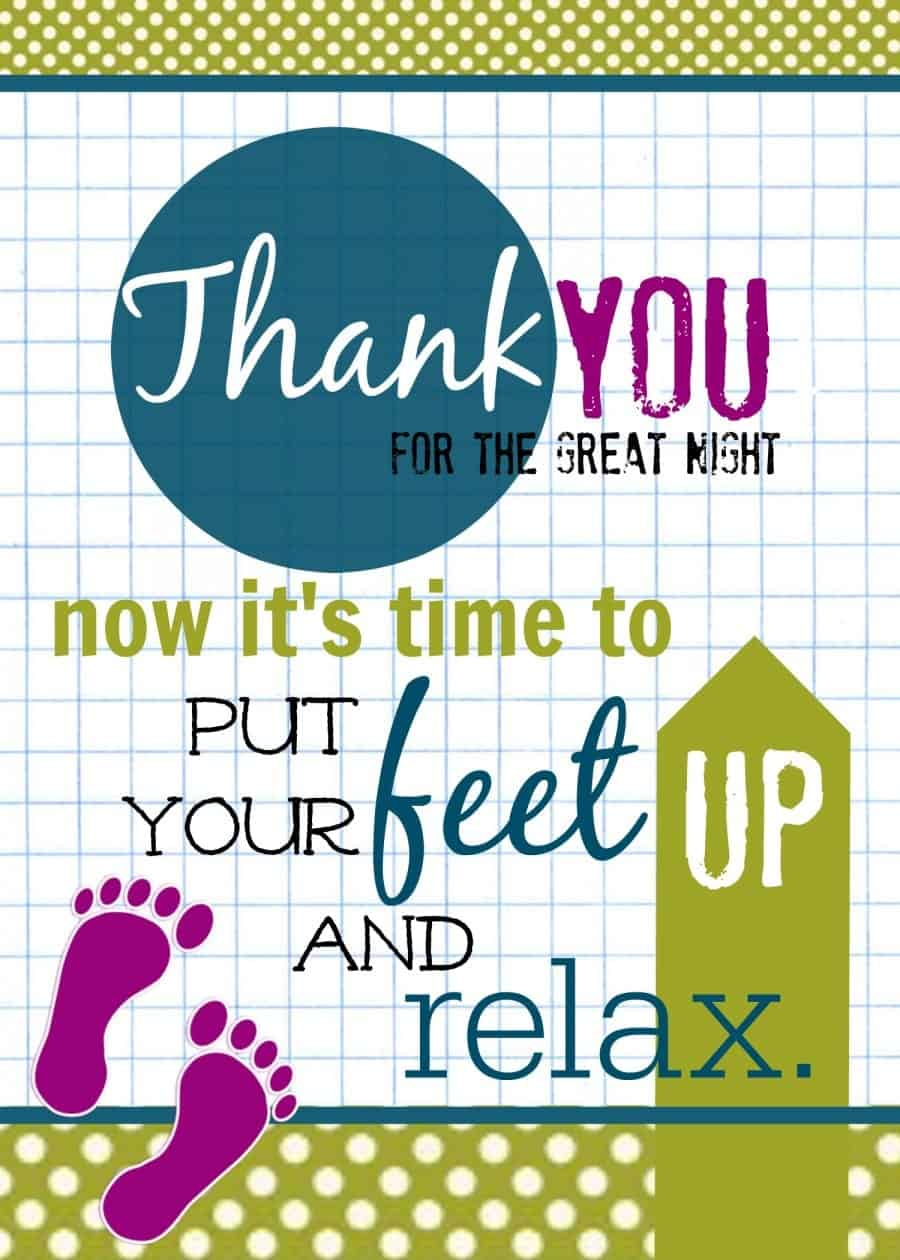 put your feet up and relax printable