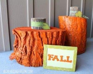 Log pumpkins and An ULTIMATE fall blog hop!!