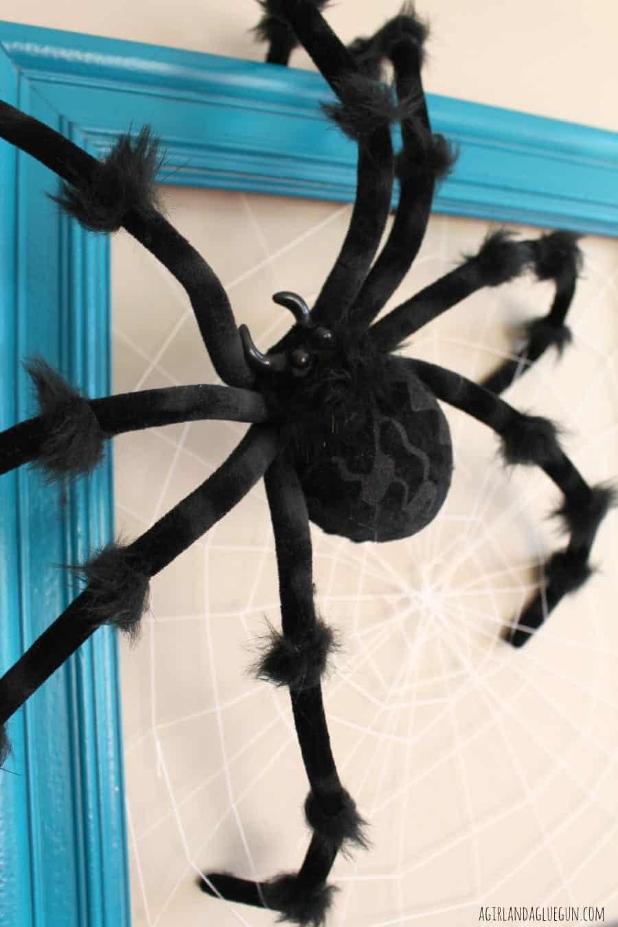 Spider Web Frame A Girl And A Glue Gun